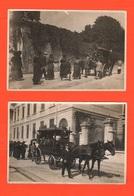 Milano ? Funerale Carro Funebre Corteo Cocchio Cocchiere Traino A Cavalli 2 Old Foto Primo '900 - Persone Anonimi