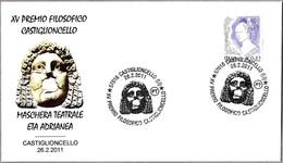 MASCARA DE TEATRO Epoca Adriano. THEATER MASK. Castiglioncello, Livorno, 2011 - Arqueología