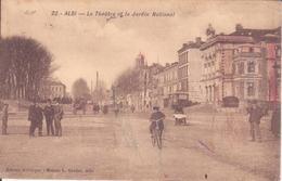 CPA - 22. ALBI Le Théâtre Et Le Jardin National - Albi
