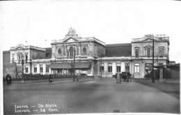 Louvain - Leuven - De Statie - La Gare (animatie, Real Photo Lits 1937) - Leuven