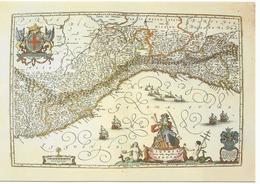 X2313 Cartolina Postale - Vaticano - Carta Geografica Map Carte Geographique - Liguria - Carte Geografiche