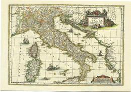 X2315 Cartolina Postale - Vaticano - Carta Geografica Map Carte Geographique - Italia - Geographie Blaviane 1667 - Carte Geografiche