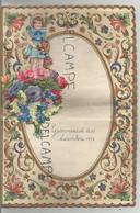 Lettre De Vœux D'Annie Crutzen à Sa Maîtresse En 1959 à Gemmenich. Petite Fille Et Fleurs. - Manuscripts