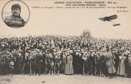 """COURSE D'AVIATION - PARIS-MADRID - Mai 1911 Issy-les-Moulineaux Départ  - GIBERT Sur Monoplan """"Blériot"""" ... - ....-1914: Precursors"""