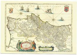 X2316 Cartolina Postale - Vaticano - Carta Geografica Map Carte Geographique - Portugal - Geographie Blaviane 1667 - Carte Geografiche