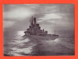 Nave Incrociatore Andrea Doria Pieghevole Calendario Anno 1966 Navi Navi Ships Navires - Calendari