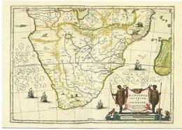 X2317 Cartolina Postale - Vaticano Carta Geografica Map Carte Geographique Capo Buona Speranza Geographie Blaviane 1667 - Carte Geografiche
