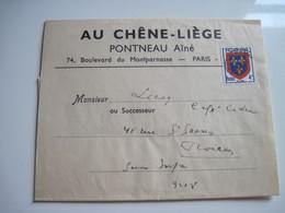 Bande Journaux AU CHENE LIEGE PONTNEAU Ainé PARIS  Franchise Poste X 2 - Other