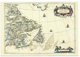 X2318 Cartolina Postale - Vaticano Carta Geografica Map Carte Geographique Golfo San Lorenzo Geographie Blaviane 1667 - Carte Geografiche