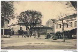 Cpa..47..LAYRAC..PLACE DE SALENS.....A VOIR - France