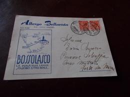 B688  Intero Postale Bossolasco Cuneo Albergo Bellavista Presenza Keggere Pieghe - 1946-.. République
