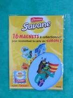 Magnet - Savane Brossard - Carte De L'Europe - Islande - NEUF - Magnets