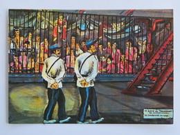 """Carte Postale Guyane : BAGNE """"A Bord Du Transport La Martinière"""", Delabergerie, N° 29 - Otros"""