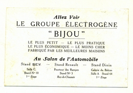 GROUPE ELECTROGENE BIJOU  EN BON ETAT - Visiting Cards