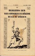 Bulletin Des Sous Officiers De Réserve De La 20° Région  N° 18 Avril - Mai 1936 - Livres, BD, Revues