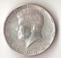 USA  1/2  DOLLAR  1964  ARGENT KENNEDY - Federal Issues