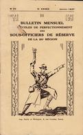 Bulletin Des Sous Officiers De Réserve De La 20° Région  N° 22  Janvier 1937 - Livres, BD, Revues