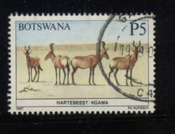 Botswana  1987 Wild Life  Animal Hartbeest P5 Top Value Fine Used - Botswana (1966-...)