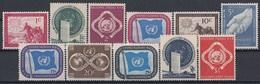 UNITED NATIONS New York 1-11,unused - Ungebraucht
