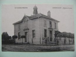 CPA 54 Lenoncourt - La Mairie Et L'Ecole - Vue D'ensemble  A Voir ! - Autres Communes