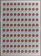 Montenegro 2002 Philatelic Exhibition Surcharge, Sheet Of 100 With Sign Of Engraver On 46th Stamp, MNH (**) - Montenegro