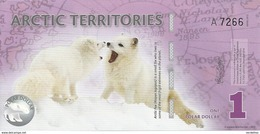 ARCTIC TERRITORIES 1 POLAR DOLLAR 2012 UNC - Banknotes