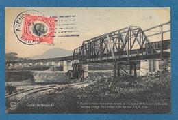 CANAL DE PANAMA PUENTE GAMBOA VIA NUEVA DEL FERROCARRIL DE PANAMA 1913 - Panama