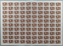 Montenegro 2001 Fight Against Violence Against Women Surcharge, Sheet Of 100 With Sign Of Engraver On 33rd Stamp, MNH ** - Montenegro