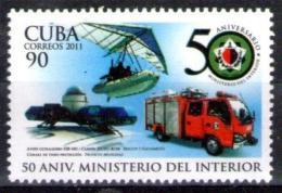 Cuba 2011 50th Police Minister, Firemen 1v MNH - Cuba