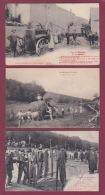 210518 - 3 CPA Du MORVAN Battage Cachet De MONT ST JEAN - Rentrée Des Foins - Foire Les Cordes Scène Agricole - Agriculture