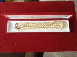 3 Naturperlenketten In Schatulle Juwelier Kraemer - Necklaces/Chains