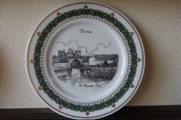 * Deurne (Antwerpen - Anvers - Antwerp) * 3 Unieke Borden Deurne Porselein (g Swaenepoel) Te Ieper - Ceramics & Pottery