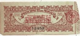 LOTERIE DE MONTE CARLO . PRINCIPAUTE DE MONACO.6 - Lottery Tickets