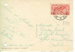 """""""FIERA DI MILANO XVII"""" Cent.20 (S 394),TARIFFA CARTOLINA,1936, PER POLA-TIMBRO POSTE NATANTE COMO-COLICO 29-GRAVEDONA - 1900-44 Victor Emmanuel III"""