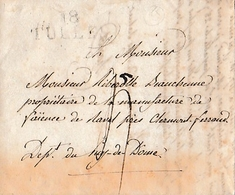 TULLE 1827 - L.A.S. CHARIOT à M. RIBEROLLE BEAUCHENNE, Propriétaire De La Manufacture De Faïence à RAVEL (63) - Historical Documents