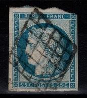 Ceres 1849 YV 4 Oblitere Pas Aminci, Au Filet Nord Est, 1 Voisin, Cote 65 Euros - 1849-1850 Ceres