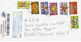 Lettre Recommandée De Carpentras. Timbres De Carnet + Vignette - Marcophilie (Lettres)