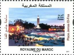 MAROC MOROCCO MARRUECOS PLACE JAMAA EL FNA MARRAKECH PATRIMOINE CULTUREL 2017 - Morocco (1956-...)