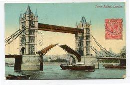 CPA - Carte Postale - Royaume-Uni - London - Tower Bridge 1914 (CP3249) - Other
