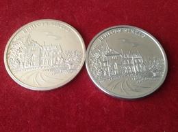 Medaillen Sinzig Rhein Schloss Sinzig 25 Jahre BWV Volksbank 1981 Silber Und Zinn - Elongated Coins