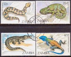 ZAMBIA 1984 SG #412-15 Compl.set Used Reptiles - Zambia (1965-...)