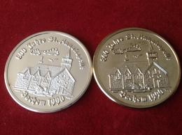 Medaillen Bachem Ahr 800 Jahre Sankt Anna Kapelle 1990 Silber - Pièces écrasées (Elongated Coins)
