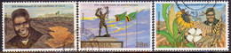 ZAMBIA 1984 SG #417-19 Compl.set Used UNIP & Independence Annivs - Zambia (1965-...)