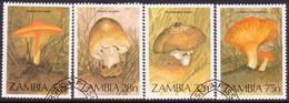 ZAMBIA 1984 SG #420-23 Compl.set Used Fungi - Zambia (1965-...)