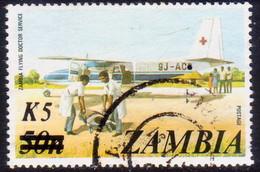 ZAMBIA 1985 SG #424 5k On 50n Used - Zambia (1965-...)
