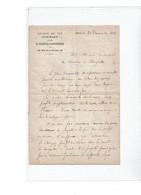 LCA4 - LETTRE A EN-TÊTE CHEMIN DE FER SOUS-MARIN ENTRE LA FRANCE & L'ANGLETERRE 21/12/1876 - Documents Historiques