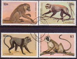 ZAMBIA 1985 SG #425-28 Compl.set Used Primats - Zambia (1965-...)