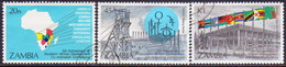 ZAMBIA 1985 SG #429-31 Compl.set Used African Development Conference - Zambia (1965-...)