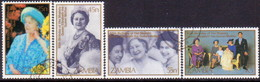 ZAMBIA 1985 SG #432-35 Compl.set Used Queen Mother - Zambia (1965-...)