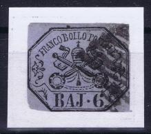 Italy  Stato Pontificio Sa Nr 7A  Mi 7D Obl./Gestempelt/used - Kerkelijke Staten